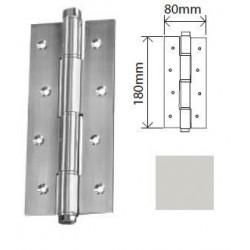 Dobradiça de mola em Alumínio Batente Prata
