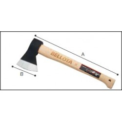 Machado cabo de madeira de faia envernizado Ref - 8130 - 600