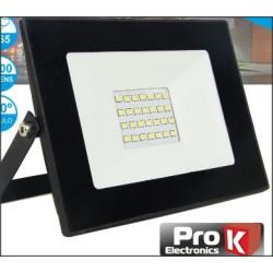 Foco LED 30W 230V Branco Frio 2400lm Preto PROK