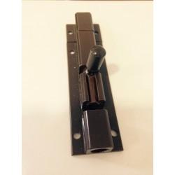 Fecho Alumínio Lacado Castanho para aplicação á face ref F102x7cm